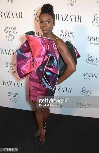 Dina Asher-Smith attends the Harper's Bazaar Women of the Year Awards 2019, in partnership with Armani Beauty, at Claridge's Hotel on October 29,...
