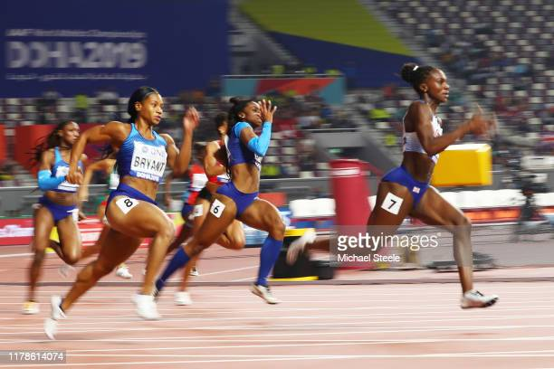 Dina AsherSmith of Great Britain competes in the Women's 200 metres final during day six of 17th IAAF World Athletics Championships Doha 2019 at...