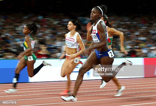 Dina AsherSmith of Great Britain competes in the Women's 200 metres heats during day five of the 15th IAAF World Athletics Championships Beijing 2015...