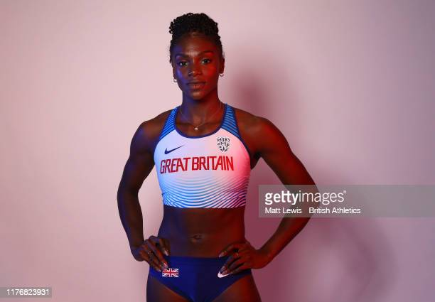 Dina Asher-Smith of the Great Britain & Northern Ireland Athletics team poses for a portrait on September 21, 2019 in Dubai, United Arab Emirates....