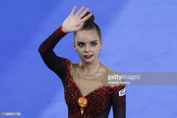 Dina Averina of Russia performs during the International Rhythmic Gymnastics Championship at the Alina Cup Grand Prix 2020 event in Moscow Russia on...