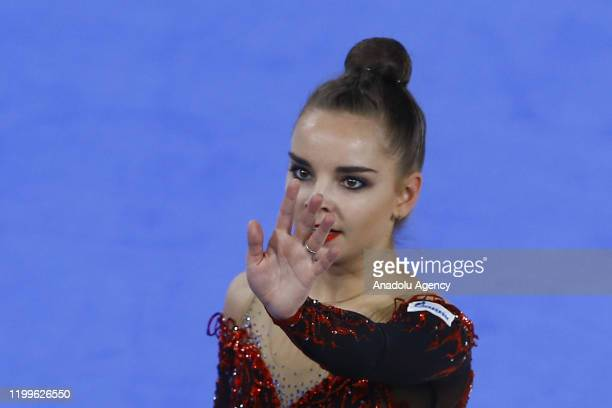 Dina Averina of Russia performs final during the International Rhythmic Gymnastics Championship at the Alina Cup Grand Prix 2020 event in Moscow...