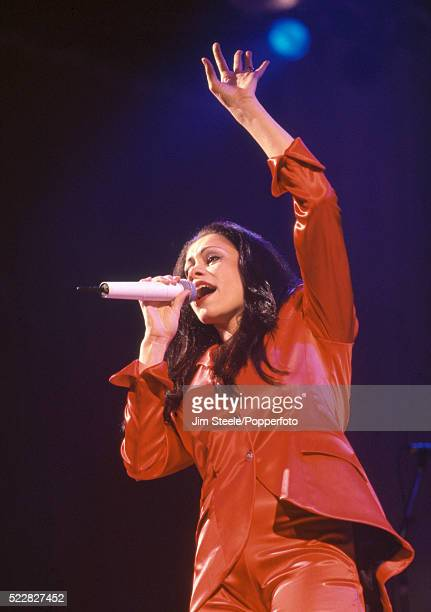 Dina Carroll performing on stage at the Wembley Arena in London circa December 1994
