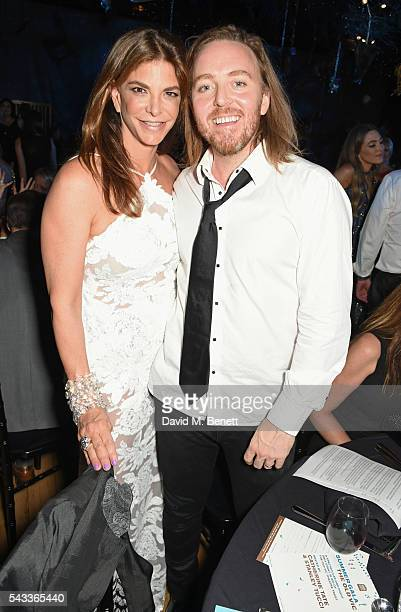 Dina De Luca and Tim Minchin attend the Summer Gala for The Old Vic at The Brewery on June 27 2016 in London England