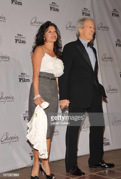 Dina Eastwood and actor/director Clint Eastwood attend the SBIFF Outstanding Performance of the Year Award Ceremony for Angelina Jolie presented by...
