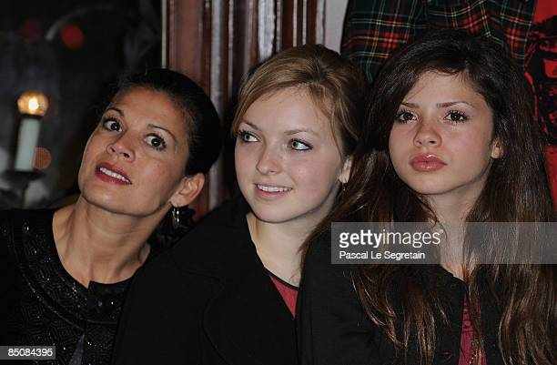 Dina Eastwood and Clint Eastwood daughters Francesca and Morgan attend a ceremony organized by the Cannes film festival to pay tribute to Clint...