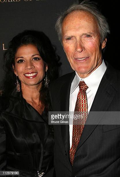Dina Eastwood and Clint Eastwood during The 2006 National Board of Review of Motion Pictures Annual Gala at Cipriani in New York NY United States