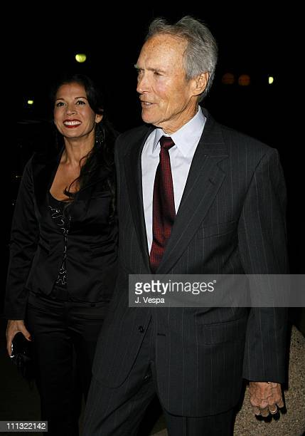 Dina Eastwood and Clint Eastwood during The 32nd Annual Los Angeles Film Critics Association Awards Red Carpet in Century City California United...