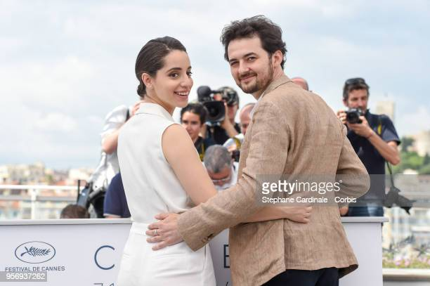 Dina Emam and AB Shawky attend the 'Yomeddine' Photocall during the 71st annual Cannes Film Festival at Palais des Festivals on May 10 2018 in Cannes...