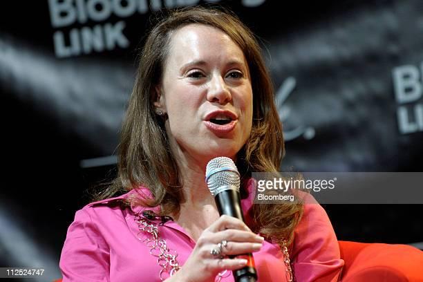 Dina Kaplan cofounder of Bliptv speaks at Bloomberg Link Empowered Entrepreneur Summit in New York US on Thursday April 14 2011 The Bloomberg Link...