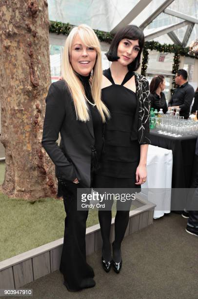 Dina Lohan and Aliana Lohan attend the 60th GRAMMY Nominee Luncheon on January 11 2018 in New York City