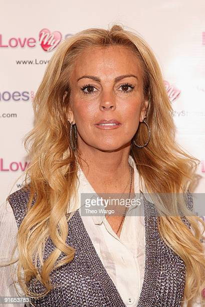 Dina Lohan announces the Shoe-han Shoe Line at the Marc Fisher Showroom, Trump Plaza on October 8, 2009 in New York City.