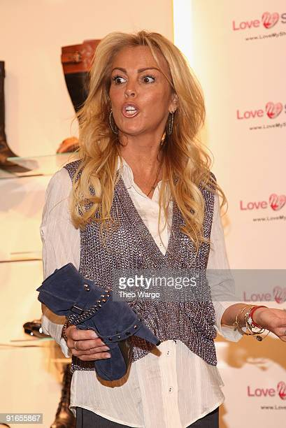 Dina Lohan announces the Shoehan Shoe Line at the Marc Fisher Showroom Trump Plaza on October 8 2009 in New York City