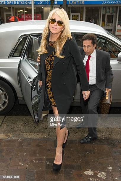 Dina Lohan appears in court for a hearing with her attorney Mark Heller after her arrest on September 12 2013 for Driving While Intoxicated and...