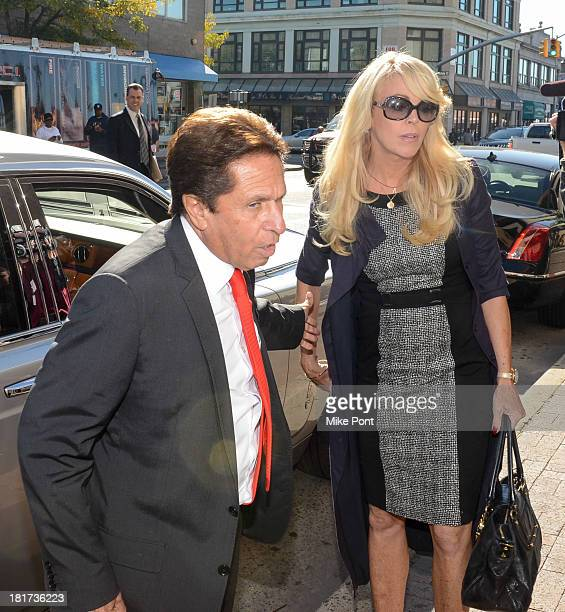 Dina Lohan arrives at court with attorney Mark Heller after her arrest on September 12 2013 for Driving While Intoxicated and speeding>> at Nassau...