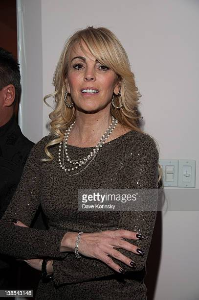 Dina Lohan attends an NYC Fashion Week kick off party at the Randi Rahm Studio on February 8 2012 in New York City