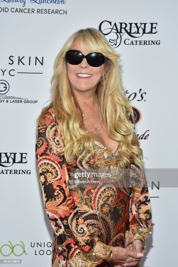 Dina Lohan attends Jill Zarin's 5th Annual Luxury Luncheon at Private Residence on July 29, 2017 in Southampton, New York.