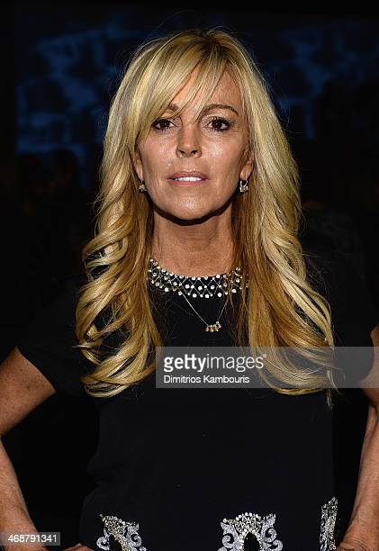 Dina Lohan attends the Nicole Miller show during MercedesBenz Fashion Week Fall 2014 at Milk Studios on February 7 2014 in New York City