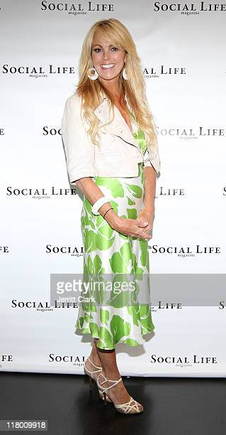 Dina Lohan attends the Social Life Magazine July Issue release party at The Social Life Estate on July 2 2011 in Watermill New York