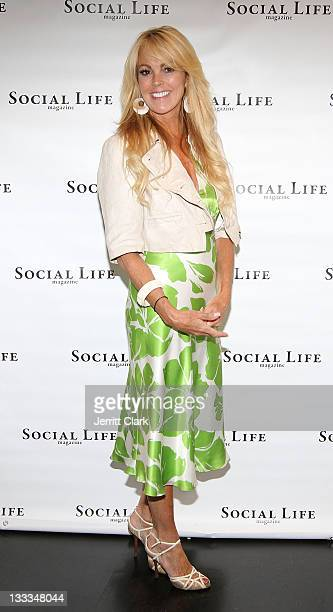 Dina Lohan attends the Social Life Magazine July Issue release party at The Social Life Estate on July 2, 2011 in Watermill, New York.