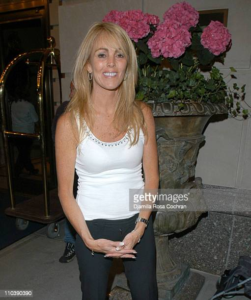 Dina Lohan during Dina Lohan Sighting in New York City - June 8, 2005 at Street of New York City in New York City, New York, United States.