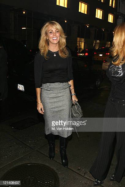 Dina Lohan during Dina Lohan's Birthday dinner at Phillipe's in New York NY United States