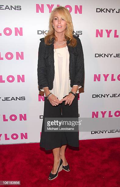 Dina Lohan during Lindsay Lohan Hosts Nylon Magazine's Young Hollywood Issue at Tenjune in New York City New York United States