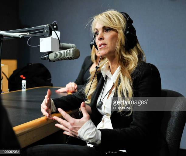 Dina Lohan hosts the Steppin' ON The Tabloids radio show at a private studio on February 14 2011 in New York City