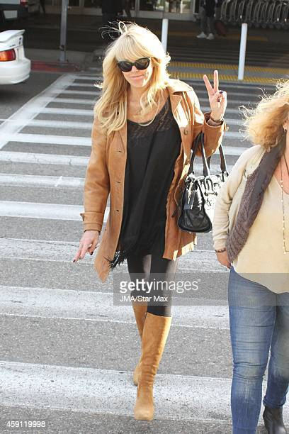 Dina Lohan is seen on November 16 2014 in Los Angeles California