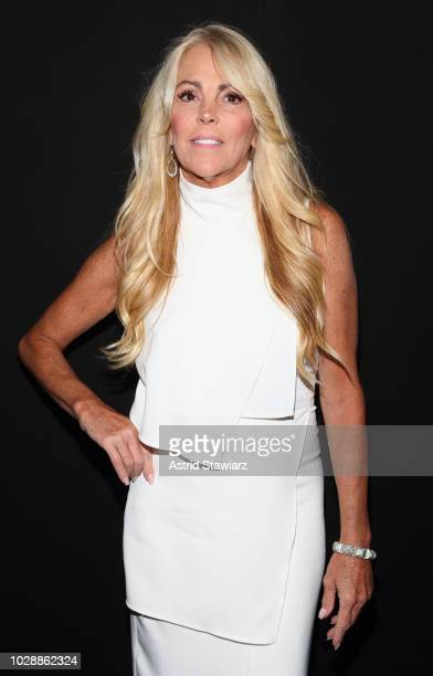 Dina Lohan poses backstage for the Vivienne Hu show during New York Fashion Week The Shows at Gallery II at Spring Studios on September 7 2018 in New...