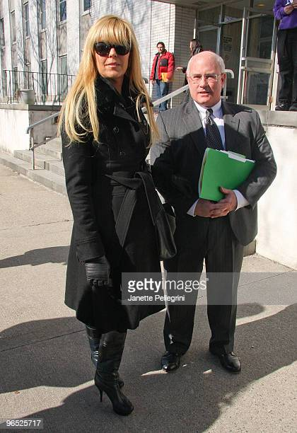 Dina Lohan with her Attorney John P. Pedranghelu Jr. Is seen at Nassau County Family Court on February 9, 2010 in Westbury, New York.