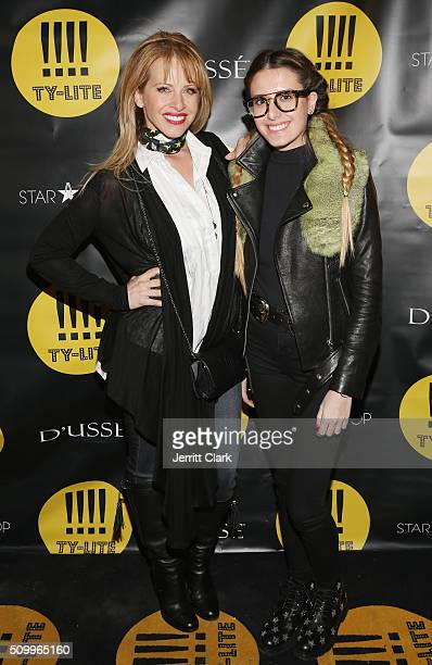 Dina Manzo and Lexi Manzo attend the TYLITE Launch Party at Wallplay Gallery on February 12 2016 in New York City