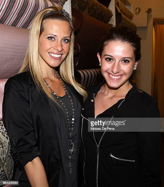 Dina Manzo and Lexi Manzo attends Jill Zarin's Secrets Of A Jewish Mother Book Launch Party at Zarin Fabrics on April 13 2010 in New York City