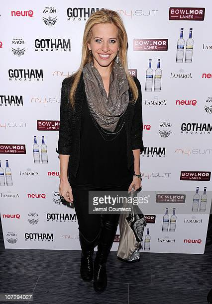 Dina Manzo attends Gotham Magazine's Holiday Party hosted by John Legend at the new Bowlmor Times Square along with mysuitnycom and La Marca Prosecco...