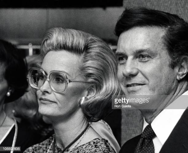 Dina Merrill and Cliff Robertson during Albert Nipon Fashion Party at Bloomingdale's in New York City, New York, United States.