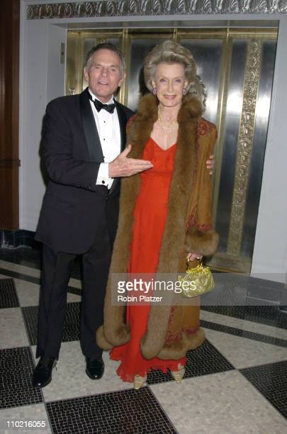 Dina Merrill and husband Ted Hartley during The 30th Anniversary of The New Yorker For New York Awards Benefitting Citzens For NYC at The Waldorf...