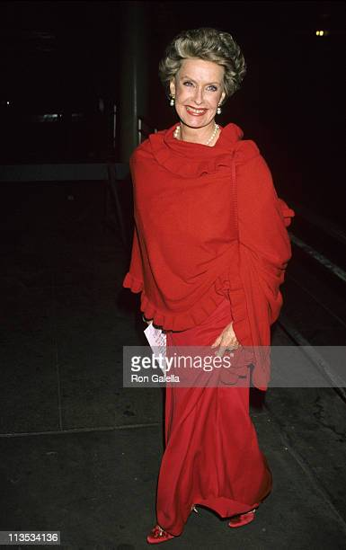Dina Merrill during Planned Parenthood Benefit - April 30, 1990 at Lincoln Center in New York City, New York, United States.