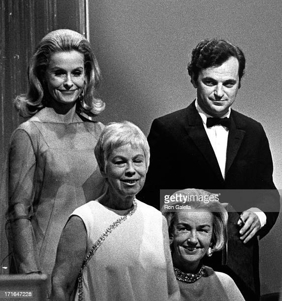 Dina Merrill Eugenia Sheppard and Bert Stern attend CBS 'Model Of The Year' Awards on August 30 1967 at the Waldorf Astoria Hotel in New York City
