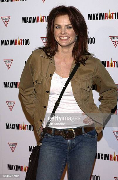 Dina Meyer during Maxim Hot 100 Party Arrivals at Yamashiro in Hollywood California United States