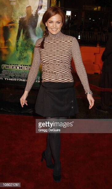 Dina Meyer during Star Trek Nemesis World Premiere at Grauman's Chinese Theatre in Hollywood California United States