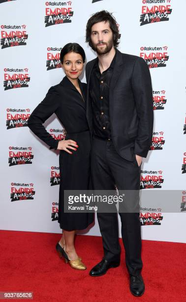 Dina Mousawi and Jim Sturgess attend the Rakuten TV EMPIRE Awards 2018 at The Roundhouse on March 18, 2018 in London, England.