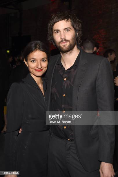 Dina Mousawi and Jim Sturgess attend the Rakuten TV EMPIRE Awards 2018 cocktail reception at The Roundhouse on March 18, 2018 in London, England.