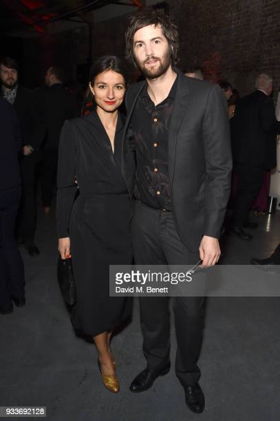 Dina Mousawi and Jim Sturgess attend the Rakuten TV EMPIRE Awards 2018 cocktail reception at The Roundhouse on March 18 2018 in London England