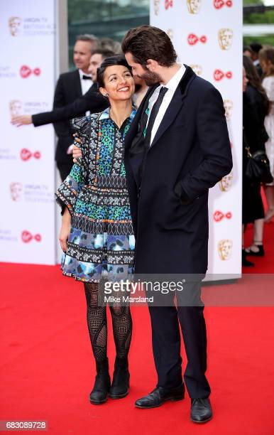 Dina Mousawi and Jim Sturgess attend the Virgin TV BAFTA Television Awards at The Royal Festival Hall on May 14 2017 in London England