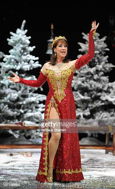 Dina Payne attends First Family Entertainment theatre company's annual group Pantomime photocall at Piccadilly Theatre on November 26 2010 in London...