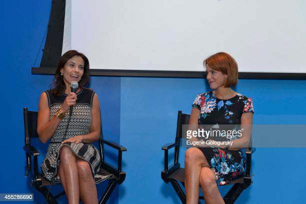 Dina Powell and Stephanie Ruhle attend The Women's Forum For The Economy And Society And Madeira Global Host Inaugural Launch Of The Women's Forum...