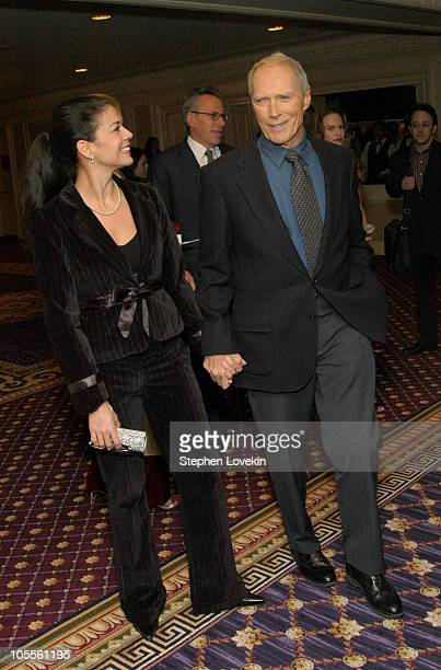 Dina RuizEastwood and Clint Eastwood during The 70th Annual New York Film Critcs Circle Awards Inside at The Roosevelt Hotel in New York City New...