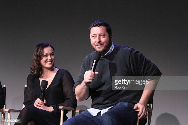 Dina Shihabi and director Sean Mullin attend Apple Store Soho Presents Meet The Filmmakers Paul Wesley Dina Shihabi And Sean Mullin Amira And Sam at...