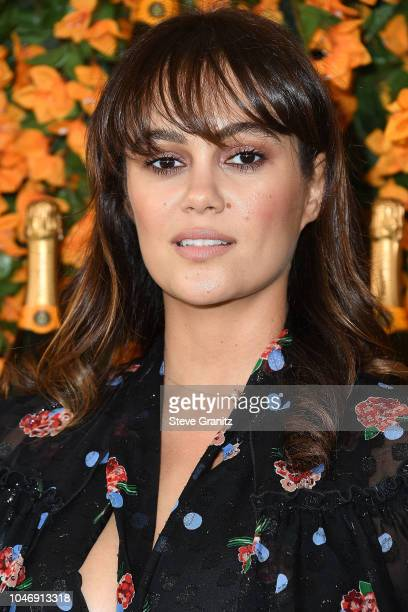 Dina Shihabi arrives at the 9th Annual Veuve Clicquot Polo Classic Los Angeles at Will Rogers State Historic Park on October 6 2018 in Pacific...