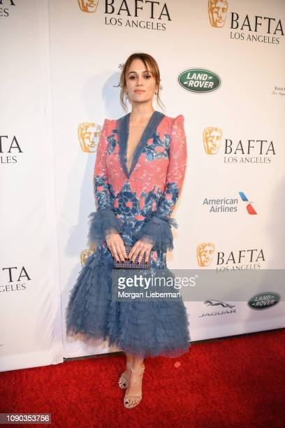 Dina Shihabi arrives at the BAFTA Los Angeles Tea Party at the Four Seasons Hotel Los Angeles in Beverly Hills on January 05 2019 in Los Angeles...